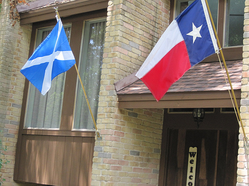 Scotland and Texas Flags